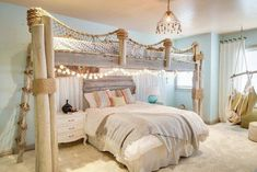 Ideas for DIY projects for coastal pirate themed kid's bedroom. Interior design by Style By Beth