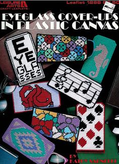 Plastic Canvas Keychain Patterns | Plastic Canvas Eyeglass Cover ups Leaflet by…