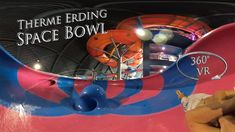 Therme Erding Space Bowl (Funnel Slide) 360° VR POV Onride