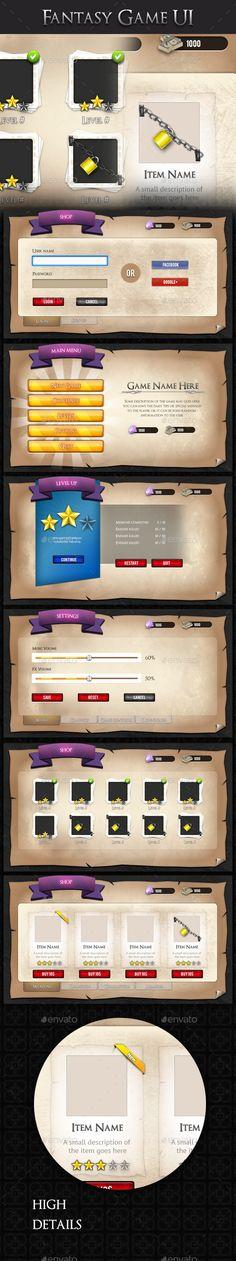 Medieval Fantasy Game UI - User Interfaces Game Assets