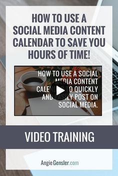 How to schedule you social media content like a boss, without spending a dime - Angie Gensler. Video training on how to use a social media content calendar to save you hours of time!