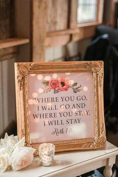 Idk about the quote but the frame and setup are super pretty! Maybe your wedding hashtag.