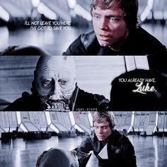 Vader and Luke, the greatest redemption story thus far. #starwars