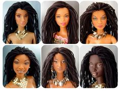 Say what?I This lady makes dolls with locs. So cool! What if they start selling Barbies like this?