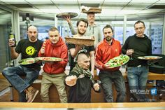 Bosnian rock band Dubioza Kolektiv having a pizza party at Radio Dalmacija in Split, Croatia Split Croatia, Pizza Party, Black Sabbath, Bosnia And Herzegovina, Rock Bands, Image