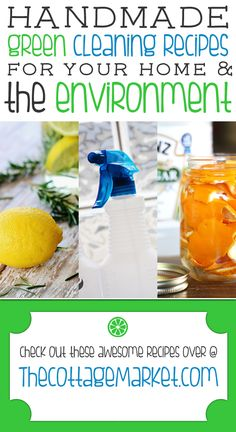 11 Handmade Green Cleaning Recipes for Your Home and the Environment - The Cottage Market