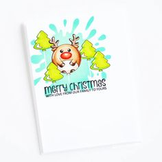 Stamps: Best Christmas, Says It All / Stencils: Splat It Reindeer, Snowman, Cool Cards, Clear Stamps, Christmas Fun, Winnie The Pooh, Stencils, Balloons, Halloween