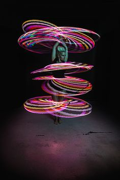 Spinning Multiple LED Hoops with Lisa Lottie Led Hula Hoop, Led Hoops, Hoop Dreams, Dark Paradise, Flow Arts, Light Painting, Romantic Travel, Spinning, Hula Hooping