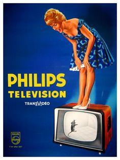 The for philips tvsets poster vintage ads vintage tv Old Advertisements, Retro Advertising, Retro Ads, Advertising Campaign, Radios, Vintage Tv, Vintage Prints, Best Ads, Old Ads