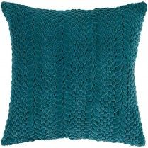 Teal Green Textured Pillow