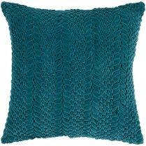Teal Green Textured Pillow