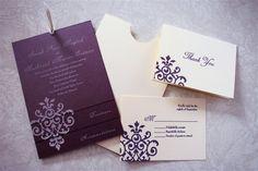 love the multi layered invite