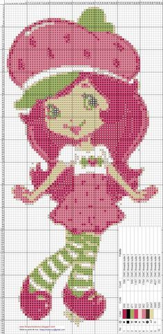 Strawberry Shortcake cross stitch