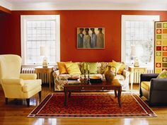 Having small living room can be one of all your problem about decoration home. To solve that, you will create the illusion of a larger space and painting your small living room with bright colors c… Curtains Living Room, Living Room Color Schemes, Small Living Room Decor, Living Room Designs, Living Room Decor Brown Couch, Modern Furniture Living Room, Living Room Paint, House Interior, Room Design