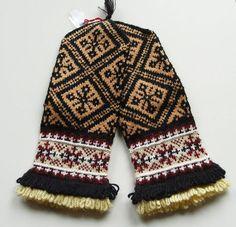 NEW Luxury Handknitted Latvian Wool Mittens Orange Brown White AND Black | eBay