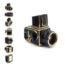 black and gold Hasselblad