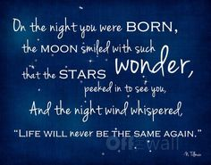 Inspiring Quotes About Life : On the Night You Were Born