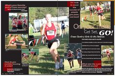 2013 Pasco High School, Girls' Cross Country Yearbook Spread.