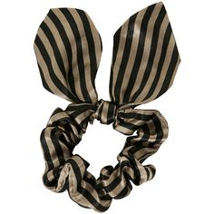 TOPSHOP Large Stripe Scrunchie ($8) ❤ liked on Polyvore featuring accessories, hair accessories, hair, hair stuff, taupe, topshop y scrunchie hair accessories
