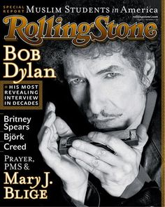 "Bob Dylan  November 22, 2001 Issue #882 RollingStone Magazine ""His most revealing interview in decades."" ~Repinned via Rolling Stone"