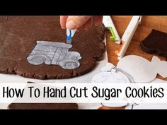 Top tips and tricks to make hand cutting custom sugar cookies easier!