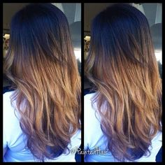 ombre with long layers.