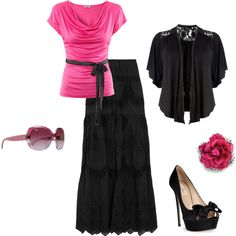 Love pink and black together...