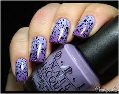 Easy nail designs - Gradient nails, purple ombre with black Pinned for Pink Pad, the women's health app with built-in social network. Gradient Nails, Dark Nails, Purple Nails, Glitter Nails, Purple Ombre, Ombre Nail, Black Ombre, Purple Glitter, Black Glitter