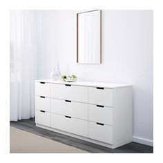 NORDLI 9-drawer chest, white white 63x29 1/2  Paint it blue for the bedroom