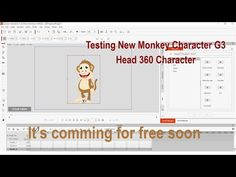 New Monkey Head 360 Character Tesing it will free for user soon