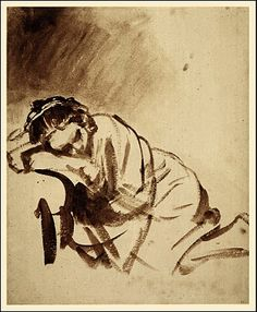 Rembrandt: A Young Woman Sleeping