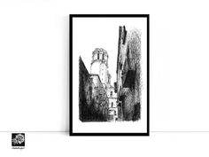 New print...Barcelona La Rambla Spanish street A4 print. #art #print #homedecor #Espana #Spain #city #prints #digital #illustration #limitededition #artprints #blackandwhite #barcelona #larambla #penandink #etsy #etsyshop #etsysseller #shopsmall https://etsy.me/2IhHePA