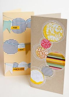 cards made from bits and pieces of the new Jenni Bowlin kit by Jill