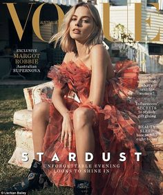 Margot Robbie sizzles in just knickers for Vogue Australia   Daily Mail Online