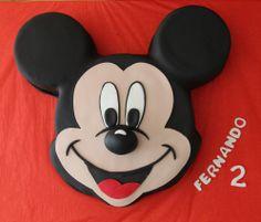 Tarta con la cara de Mickey Mouse en 2D elaborada por TheCakeProject en Madrid