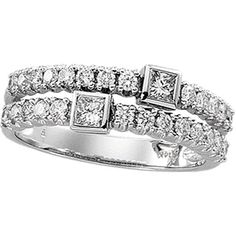 14K White Gold Diamond Fashion Ring Diamond Ring #IceCarats
