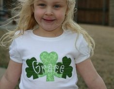 personalized st patrick's day applique shirt