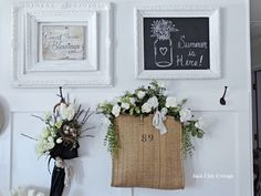 Nothing like beautiful white decor to cool you down in Summer.  More at the Sunday Showcase.  Photo Credit:  Junk Chic Cottage  http://www.thededicatedhouse.com/2015/07/the-sunday-showcase-from-make-it-pretty.html