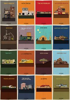 ARCHICINE Movie Poster Series by Federico Babina  http://www.dezeen.com/2014/03/05/famous-artworks-transformed-into-buildings-archist-federico-babina/