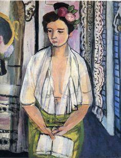 Henri Matisse, Reader on a Black Background, 1918