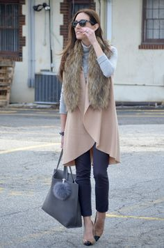 neutrals + faux fur #winterstyle