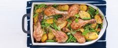 horčicovo-medové kura so zemiakmi Zucchini, Main Dishes, Food And Drink, Turkey, Cooking Recipes, Meat, Chicken, Vegetables, Simple Style