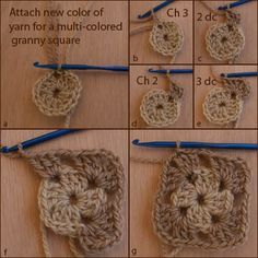 Here Is Round Two of the Crocheted Granny Square.