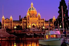 Parliament building down town Victoria BC ... across from it is the inner harbour.. where the ferry from Port Angeles docks.
