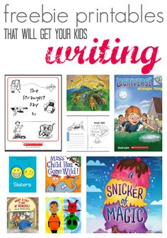 5 free printables to get your child writing after reading these 5 suggested books.