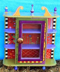 Carolyn's Funky Furniture: GALLERY Love the color combinations and primitive look of her colors and shapes