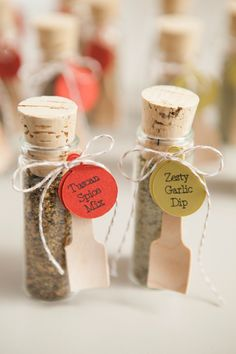 DIY Wedding Favors -- Spice Dip Mix! Another great idea, with directions,  from Something Turquoise.