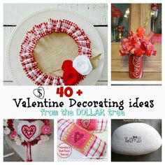 40+ diy #Valentine decor ideas inspired by the #dollar #tree