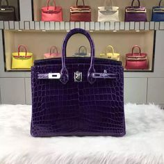 644191e687e7 Brand  Hermes  Style  Birkin Bag25cm  Material Crocodile Shiny Leather (HCP