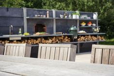 Outdoor Kitchen Ideas - Anthracite WWOO
